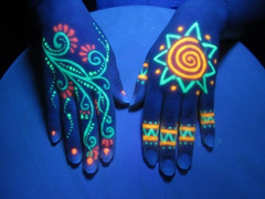 Флуоресцентные порошки и готовые краски, яркий дневной цвет, свечение в УФ лучах