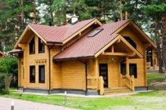 Деревянный дом. Сруб. Баня из бруса