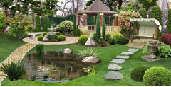 Газон, полив, ландшафтный дизайн, услуга садовника