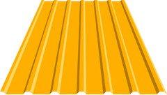 Профнастил кровельный 18 мм 0,38-0,40 металл, 1003 RAL (желтый)