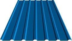 Профнастил кровельный 18 мм 0,5 металл, 5005 RAL (синий)