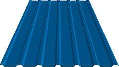 Профнастил кровельный 18 мм 0,65 металл, 5005 RAL (синий)