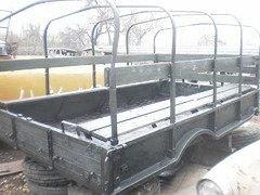 Кузов демонтированный с автомобиля ГАЗ-66, металлический, с тентом
