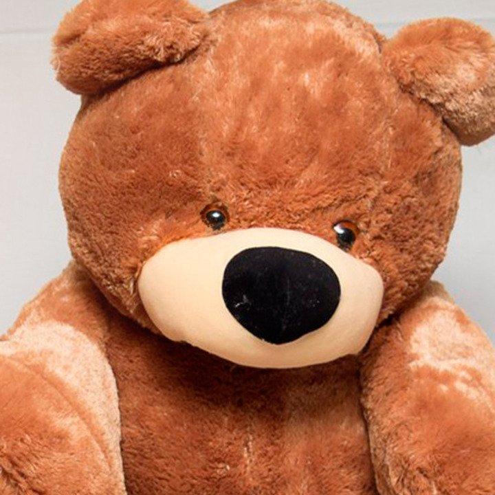 Мягкая игрушка медведь сидячий «Бублик» 70 см. Коричневый - 3/7