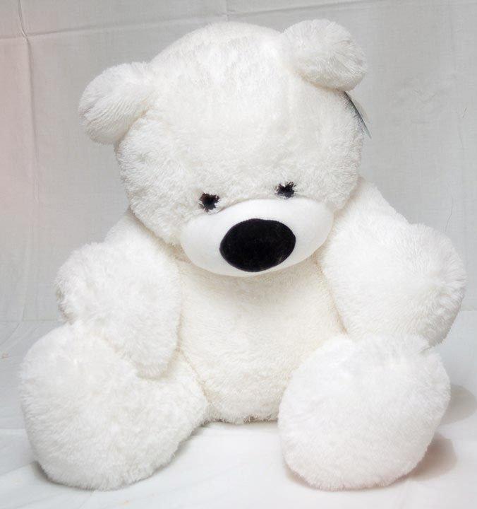 Мягкая игрушка медведь сидячий «Бублик» 70 см. Белый - 2/3