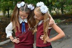 Жилет для девочки школьный. синий